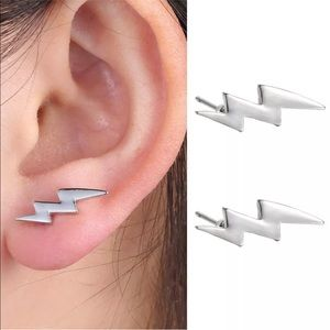Jewelry - BOWIE SILVER LIGHTNING BOLT EARRING STUDS